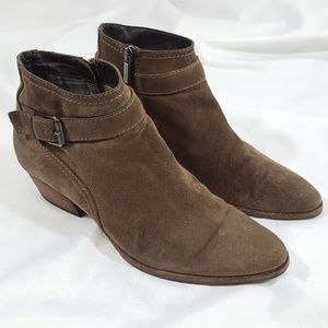 Aquatalia Fanny Suede Leather Ankle Booties 9.5